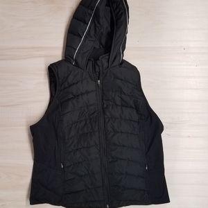 Tangerine women's puffer vest with hood size 2X